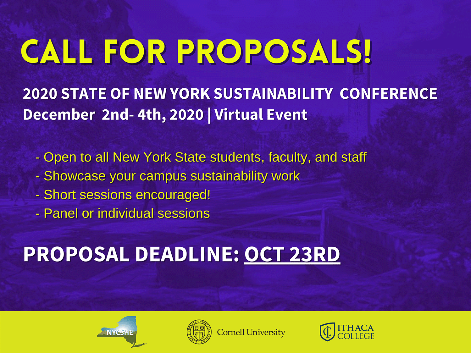 NYCHE call for proposals flyer