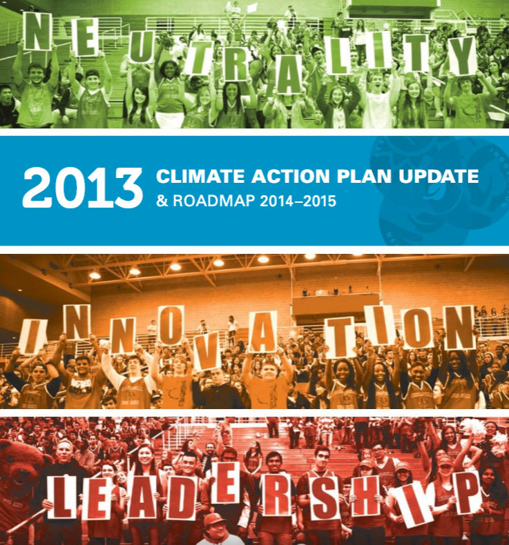Cover of Report: 2013 Cornell University Climate Action Plan Update and Roadmap