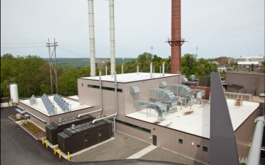 Central Energy Plant roof with solar thermal array