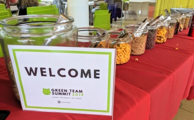 Green Team Summit food station