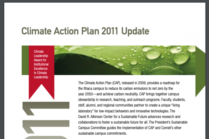 Report cover: CAP 2011 Update Summary