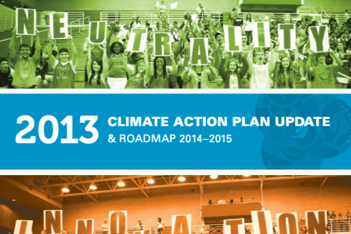 Report cover for Climate Action Plan Update & Roadmap (2013)