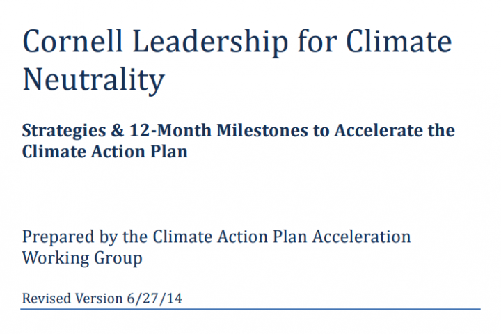 Report cover: Climate Neutrality Acceleration Plan