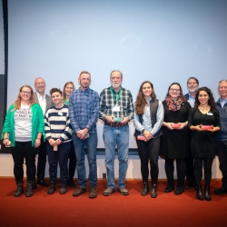 2019 Sustainability Award winner with presenters