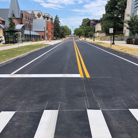 East Avenue road re-painted in August 2018