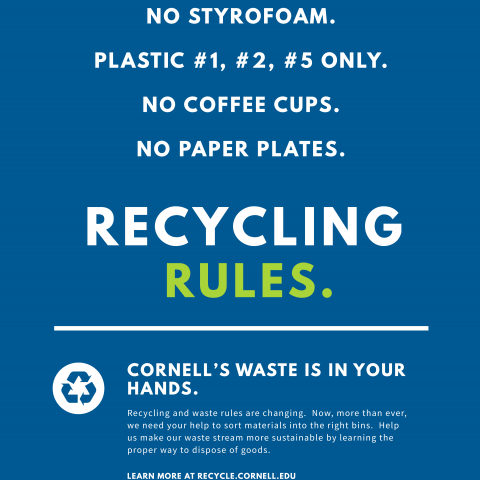recycling poster summarizing new rules